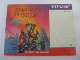 Shadow of the Ninja *Manual* (USA)