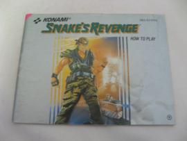 Snake's Revenge *Manual* (FRA)