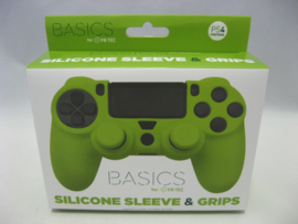 PlayStation 4 Silicone Sleeve & Grips 'Basics Green' (New)