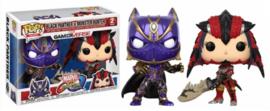POP! Black Panther vs Monster Hunter - Marvel vs Capcom Infinite - 2 Pack (New)