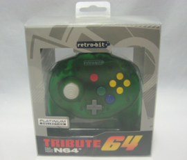 Retro-Bit Tribute Controller | Nintendo 64 | Green (New)