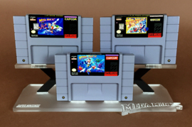 Display Stands - Mega Man X SNES Cartridge Stands (New)