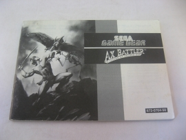 Ax Battler *Manual* (GG)