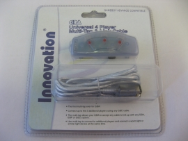 GBA Universal 4 Player Muli-Tap & Link Cable 'Blue' (New)