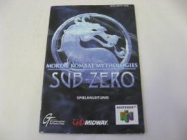 Mortal Kombat Mythologies Sub-Zero *Manual* (NOE)