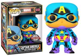 POP! Captain America (Black Light) - Marvel - Special Edition (New)