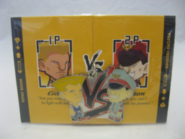 Street Fighter Enamel Keychain - Blue Guile vs Blue M. Bison - Kidrobot (New)