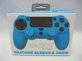 PlayStation 4 Silicone Sleeve & Grips 'Basics Blue' (New)