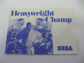 Heavyweight Champ *Manual* (SMS)