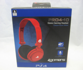 4Gamers Pro4-10 Stereo Gaming Headset - Red (New)