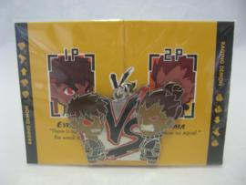 Street Fighter Enamel Keychain - Evil Ryu vs Akuma - Chase - Kidrobot (New)
