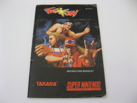 Fatal Fury *Manual* (USA)