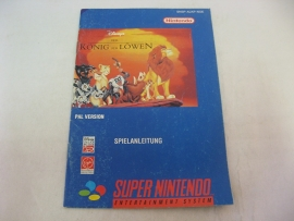 Disney's König der Löwen / Lion King *Manual* (NOE)