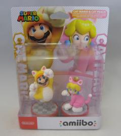 Amiibo Figure - Cat Mario & Cat Peach 2 Pack (New)