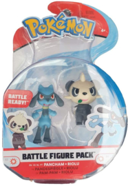Pokemon Battle Figure Pack - Pancham & Riolu (New)