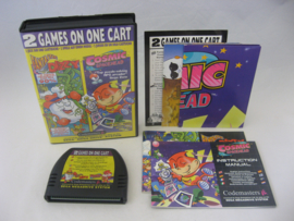 2 Games on One Cart: Fantastic Dizzy & Cosmic Spacehead (CIB)
