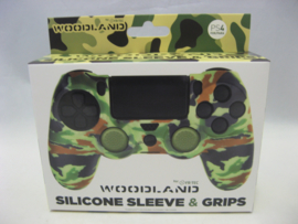PlayStation 4 Silicone Sleeve & Grips 'Woodland' (New)