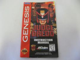 Judge Dredd *Manual* (GEN)