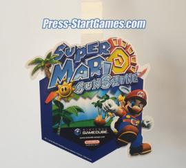 Nintendo GameCube - Super Mario Sunshine - Store Display Dangler / Wobbler