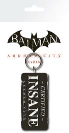 """Batman Arkham City """"Certified Insane"""" Keychain (New)"""