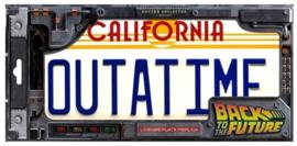 Back To The Future - License Plate Replica (New)
