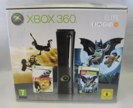 XBOX 360 Elite 120GB 'Pure & Lego Batman' Console Set (Boxed)
