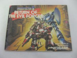 Probotector II - Return of the Evil Forces *Manual* (FRA)