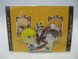 Street Fighter Enamel Keychain - Blue Ken vs Green Vega - Kidrobot (New)