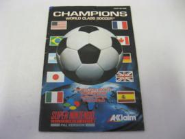 Champions World Class Soccer *Manual* (NOE)
