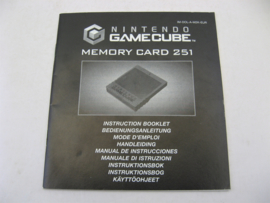 Nintendo GameCube Memory Card 251 *Manual* (EUR)
