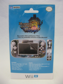 Monster Hunter 3 Ultimate - Decorative Skin and Screen Filter - Hori (New)