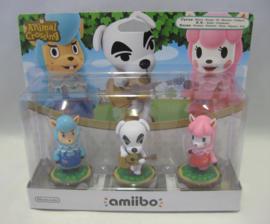 Amiibo Figure - Cyrus, K.K. & Reese - Animal Crossing 3 Pack (New)