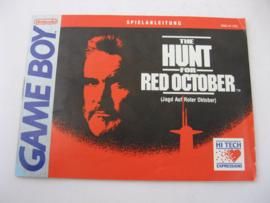 Hunt for Red October *Manual* (FRG)