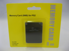 PlayStation 2 Memory Card 8MB 'Black' (New)