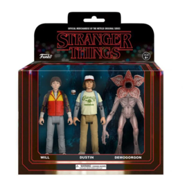 Stranger Things 3 Pack - Will, Dustin and Demogorgon Action Figures (New)