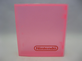 1x Nintendo NES Clamshell Cartridge Case 'Clear Pink'