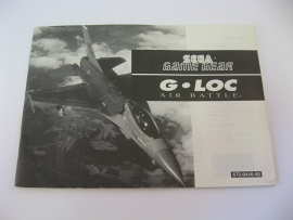 G-Loc Air Battle *Manual* (GG)