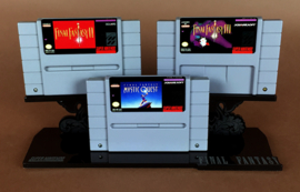 Display Stands - Final Fantasy SNES Cartridge Stands (New)