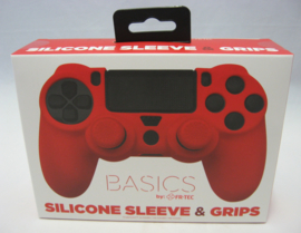PlayStation 4 Silicone Sleeve & Grips 'Basics Red' (New)