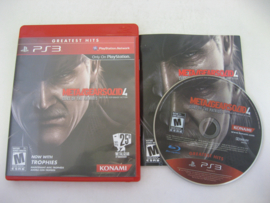 Metal Gear Solid 4 - Guns of the Patriots (PS3, USA) - Greatest Hits -