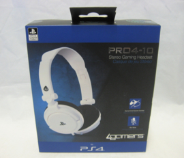 4Gamers Pro4-10 Stereo Gaming Headset - White (New)