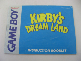 Kirby's Dream Land *Manual* (USA)