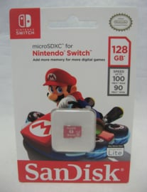 Nintendo Switch Sandisk MicroSDXC 128GB Memory Card (New)