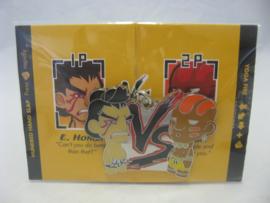 Street Fighter Enamel Keychain - Blue E. Honda vs Dhalsim - Kidrobot (New)