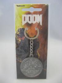 Doom Pentagram - Metal Keychain (New)