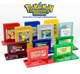 Display Stands - Pokémon Legendary Edition - GameBoy Cartridges - All Generation Stands (New)