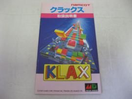 Klax *Manual* (JAP)