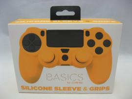 PlayStation 4 Silicone Sleeve & Grips 'Basics Orange' (New)