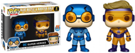 POP! Blue Beetle & Booster Gold (Metallic) - DC Super Heroes - 2 Pack - Previews Exclusive (New)