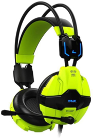 E-Blue Cobra EHS902 Shocking Green Gaming Headset (PC, New)